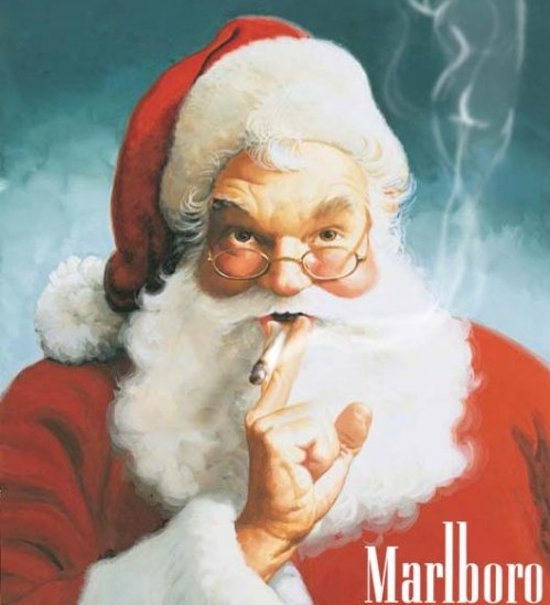 Santa Smoking was a Marlboro Man
